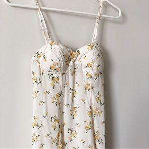 American Eagle • White Floral Dress